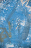 Blauer Grunge Graffiti-Hintergrund Stockfotos