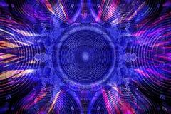 Blauer Grungemusik-Sprecherhintergrund Lizenzfreies Stockbild
