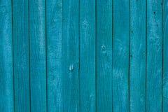 Blauer hölzerner Beschaffenheitshintergrund der Weinlese Stockbild