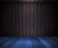 Blauer hölzerner Fußboden-Raum-Hintergrund vektor abbildung