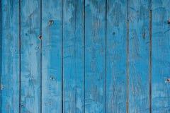 Blauer hölzerner grunge Hintergrund Stockbilder