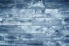 Blauer hölzerner Hintergrund Lizenzfreies Stockfoto