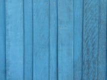 Blauer hölzerner Hintergrund Stockfotografie