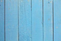 Blauer hölzerner Hintergrund Stockbild