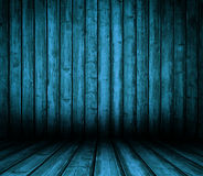 Blauer hölzerner Innenraum. Lizenzfreie Stockfotografie