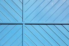 Blauer hölzerner Latten-Hintergrund lizenzfreies stockfoto