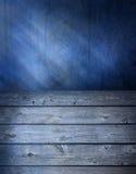 Blauer hölzerner Oberflächenhintergrund Lizenzfreie Stockfotografie