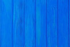 Blauer hölzerner Plankenhintergrund Stockfotos