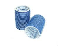 Blauer Haarlockenwickler Stockbilder