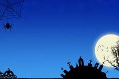 Blauer Halloween-Hintergrund lizenzfreies stockfoto