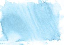 Blauer Handaquarellhintergrund Schöne Beschaffenheit Stock Abbildung