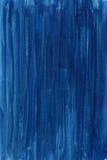 Blauer handgemalter abstrakter Aquarellhintergrund Stockbilder