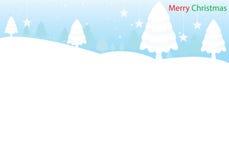 Blauer heller Hintergrund-frohe Weihnachten Lizenzfreie Stockfotos