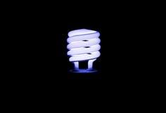 Blauer heller Leuchtstofffühler in der Dunkelheit Lizenzfreies Stockbild