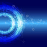 Blauer Hightech- abstrakter Hintergrund Stockfotos