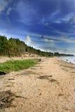 Blauer Himmel über der Ostsee Stockfotografie