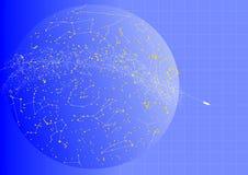 Blauer Himmel-Atlas-Abbildung Stockfotografie