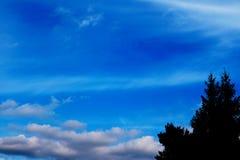 Blauer Himmel bewölkt Wandkunst-Hintergrundmalereien, schöne Farben, Tapete stock abbildung