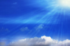 Blauer Himmel bewölkt Wandkunst-Hintergrundmalereien, schöne Farben, Tapete vektor abbildung