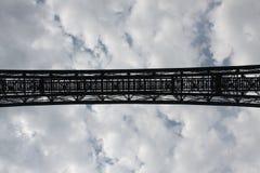 Blauer Himmel Brücke Lizenzfreie Stockfotos
