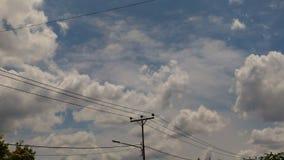 Blauer Himmel bunt von der Wolke für Hintergrund Lizenzfreie Stockbilder
