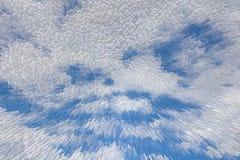 Blauer Himmel 3D verdrängen Blockmusterhintergrund, lizenzfreie abbildung