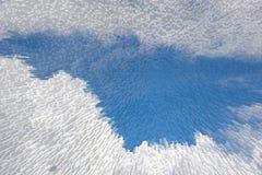 Blauer Himmel 3D verdrängen Blockmusterhintergrund, stock abbildung