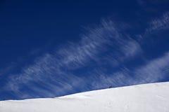 Blauer Himmel des Winters stockfotos