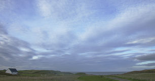 Blauer Himmel in Durness Stockfoto
