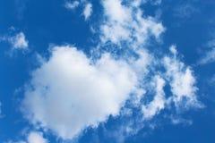 Blauer Himmel mit weißen Wolken Stockfotografie