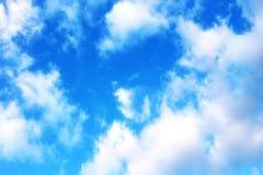 Blauer Himmel mit Wolkennahaufnahme Lizenzfreies Stockfoto