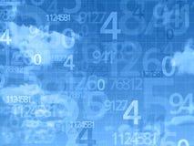 Blauer Himmel nummeriert Hintergrund Stockfotografie