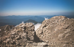 Blauer Himmel Rocky Mountains Landscapes Sommer-Reise Lizenzfreies Stockfoto