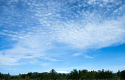 Blauer Himmel und Bergscape Lizenzfreies Stockfoto