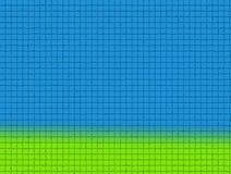 Blauer Himmel und grünes Gras Lizenzfreies Stockfoto