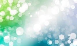 Blauer Himmel und grünes Vegetation bokeh Lizenzfreie Stockfotos