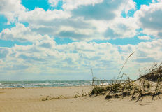 Blauer Himmel und Meer lizenzfreie stockfotografie