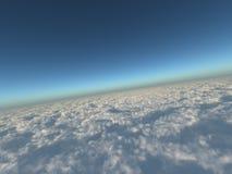 Blauer Himmel und weiße Wolken Stockbilder