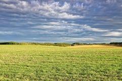 Blauer Himmel vom Ackerland Lizenzfreie Stockfotografie