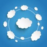 Blauer Himmel Wolken-Datenverarbeitungszyklus Infographic Lizenzfreie Stockfotos