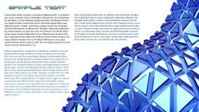 Blauer Hintergrund der Abstraktion 3d Lizenzfreie Stockbilder