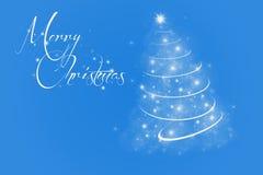 Blauer Hintergrund der frohen Weihnachten Stockfoto