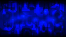 Blauer Hintergrund der Matrix mit binär Code, digitaler Code im abstrakten futuristischen Cyberspace, künstliche Intelligenz, gro lizenzfreie abbildung