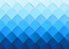 Blauer Hintergrund der quadratischen Mustersteigung Farb, Vektor Stockfoto