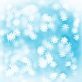 Blauer Hintergrund des Feiertags mit unscharfen künstlerischen Lichtern Lizenzfreies Stockbild
