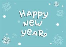 Blauer Hintergrund des guten Rutsch ins Neue Jahr bereit, im Plakat, in der E-Mail oder in der Anzeige verwendet zu werden stock abbildung
