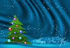 Blauer Hintergrund des neuen Jahres Stockbild