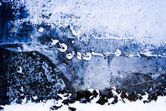 Blauer Hintergrund des Steins und des Schnees Stockfotografie