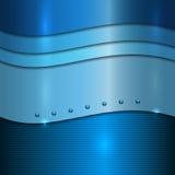 Blauer Hintergrund des Vektors Metall vektor abbildung