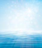 Blauer Hintergrund des Vektors See Stockfotografie